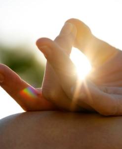 Hand meditating